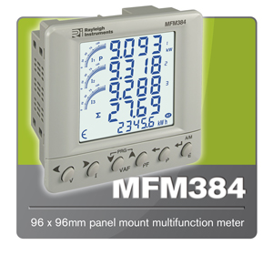 Rayleigh Instruments MFM384 Multifunction Energy Meter.