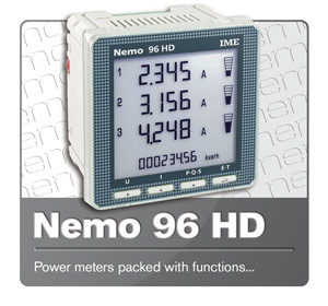 IME Nemo 96 HD Multifunction Energy Meter.