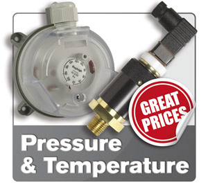 Temperature and Pressure sensors and switches.