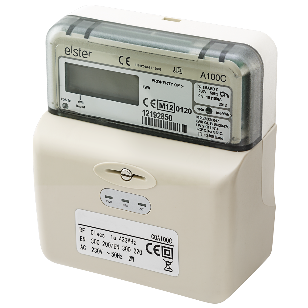 Single Phase Meter : Elster a c electronic single phase meter with integrated