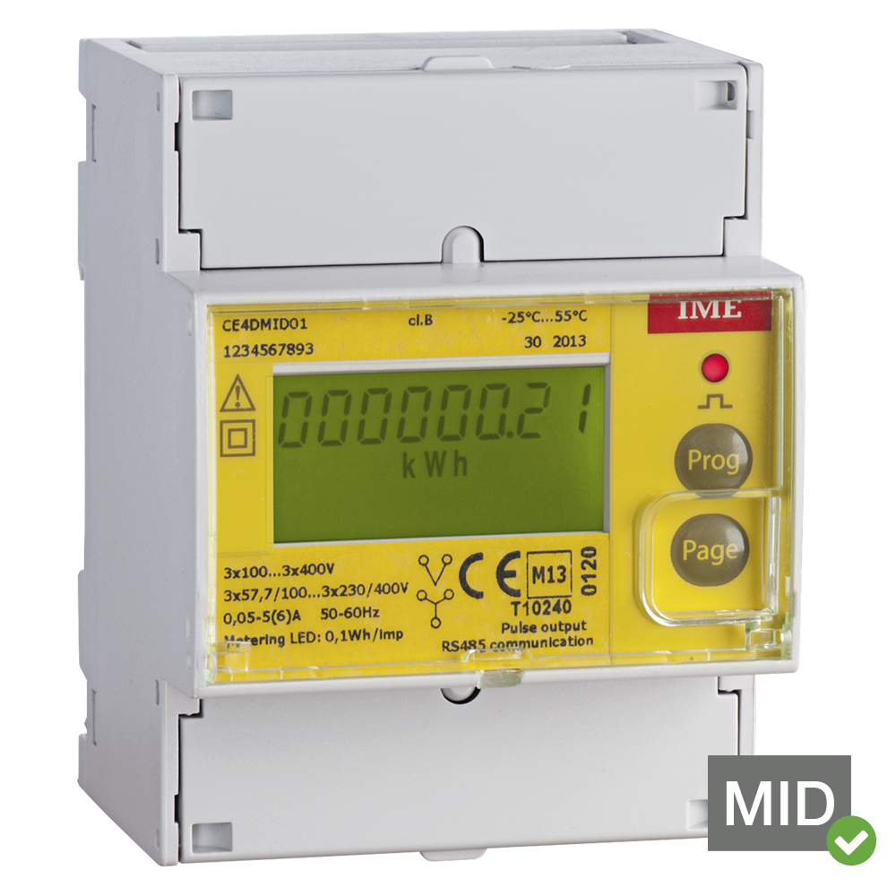 Ime Conto D4 Pt Ce4dmid01 Mid Certified Four Module Three Phase 3 4 Wire Diagram Of Energy Meter Network Multifunction