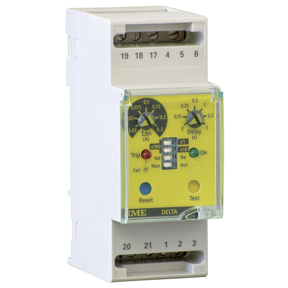 Ime Delta D2 L Rd1a Two Module Earth Leakage Relay With 1 Alarm Switch Ac