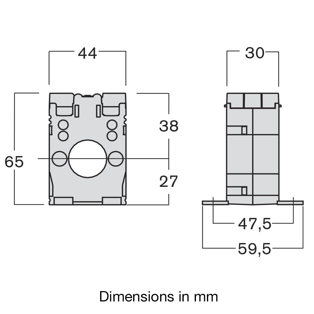 Ime Tabb Solid Core Single Phase Measuring Current Transformer In Relay Taibb Dimensions