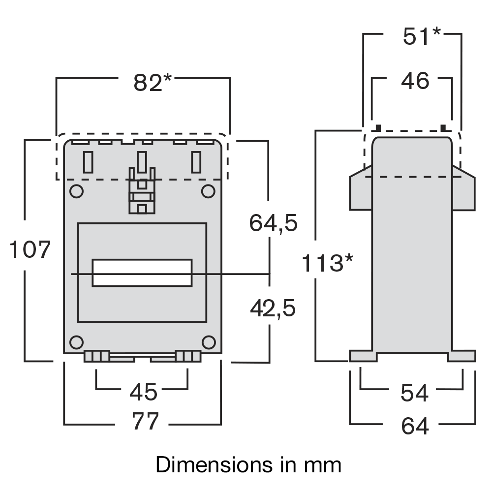 Ime Taih Tai500 Solid Core Single Phase Measuring Current Instrument Transformer Wiring Diagram Model Dimensions