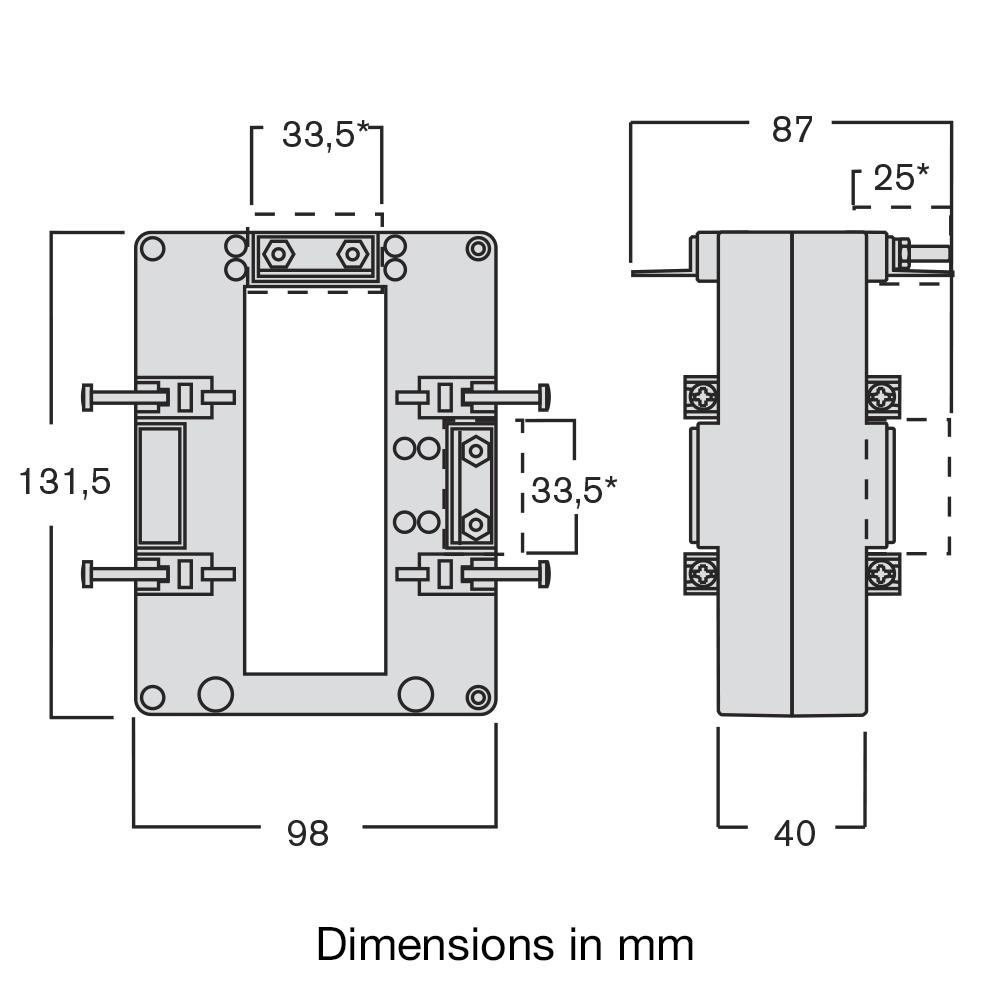 Ime Current Transformer Wiring Diagram Basic Tasp Tas105 Solid Core Single Phase Measuring Rh