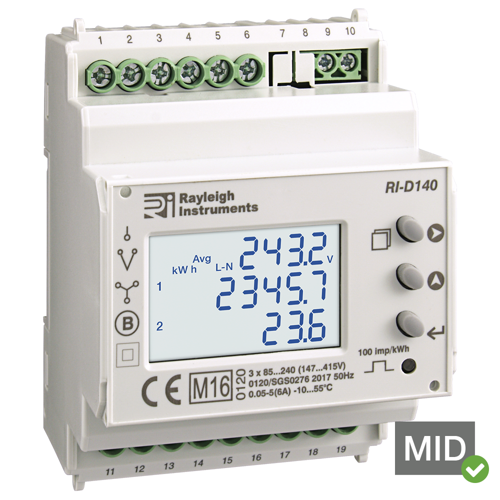 Rayleigh Instruments Ri D140 Multifunction Energy Meters