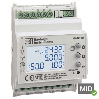 Rayleigh Instruments RI-D140 Multifunction Energy Meters - MID Certified
