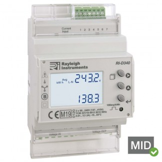 Rayleigh Instruments RI-D340 easywire Multifunction Meter - MID Certified