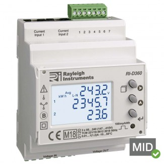 Rayleigh Instruments RI-D360 easywire Split Load Meter - MID Certified