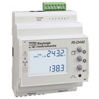 Rayleigh Instruments RI-D440 easywire DIN Rail Mounting Multifunction Meter