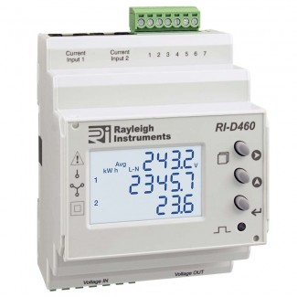 Rayleigh Instruments RI-D460 Split Load easywire DIN Rail Mounting Multifunction Meter