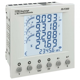 Rayleigh Instruments RI-F200 Series Single Phase and Three Phase Multifunction Energy Meter