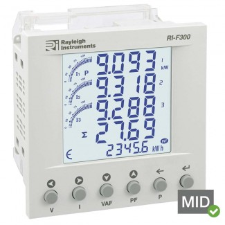Rayleigh Instruments RI-F300 easywire Multifunction Meter - MID Certified
