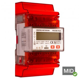 Inepro PRO380-MOD-CT MID Certified Dual Tariff Single and Three Phase Network Multifunction Meter With Pulse Output and Modbus RTU/RS485