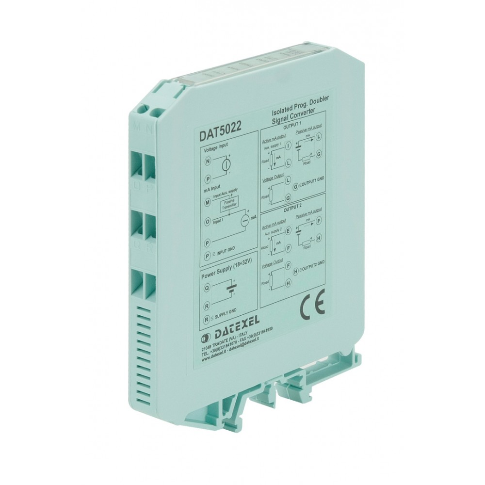 Datexel DAT5022 Dip switch configurable din rail splitter