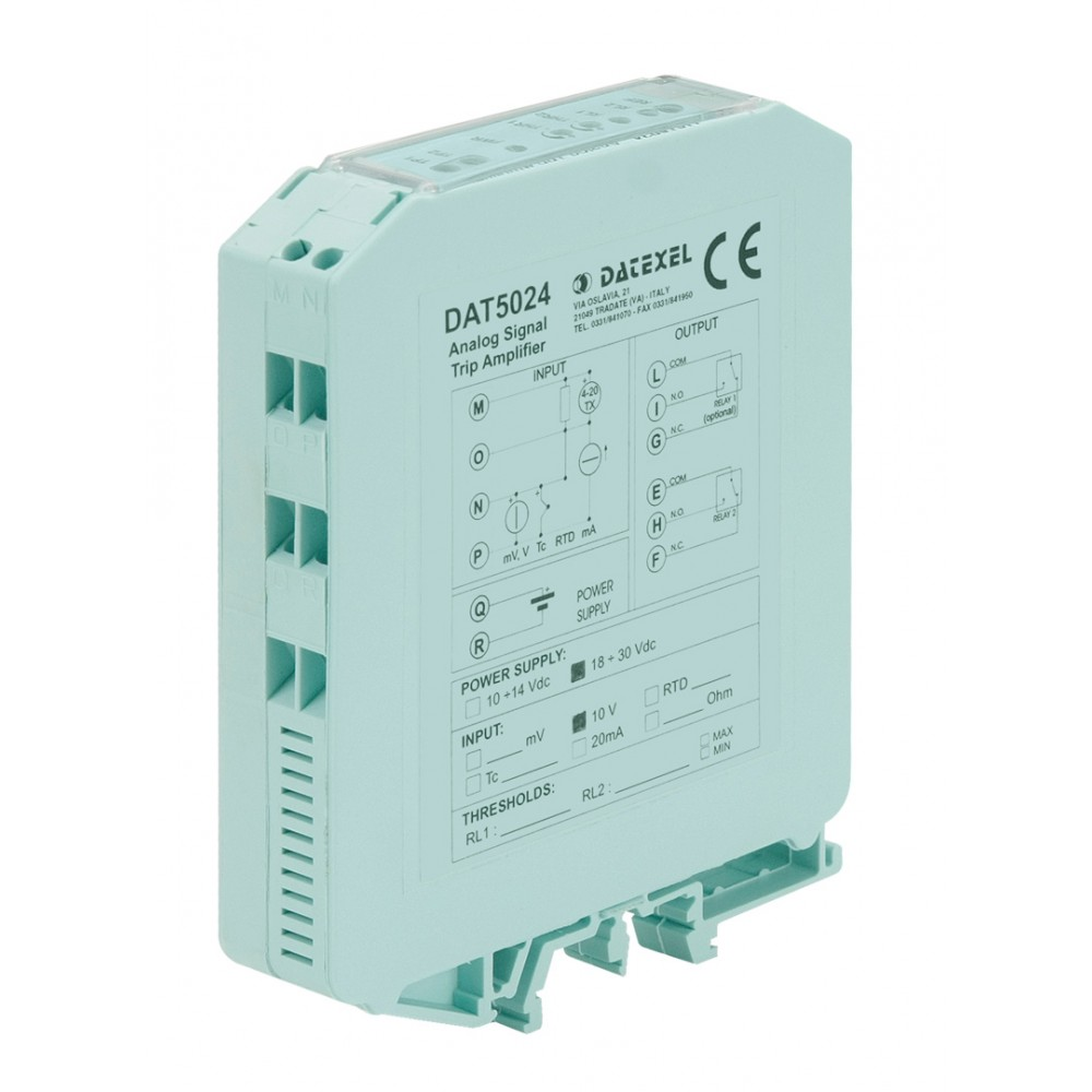 Datexel DAT 5024/R2 Din Rail Configurable Trip Amplifier
