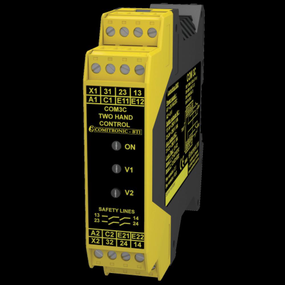 Comitronic-BTI COM3C 2NO+1NF Safety Relay - Bimanual Control