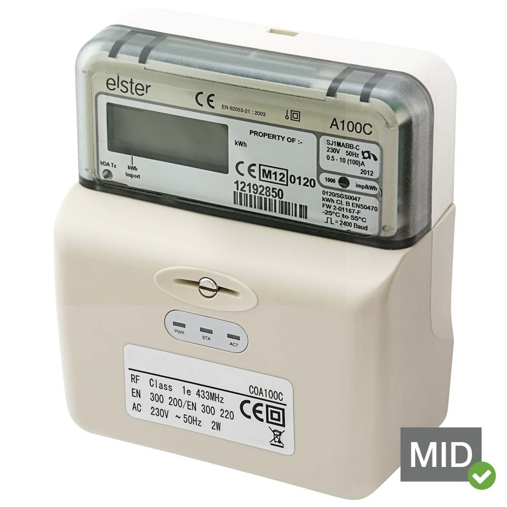 Elster A100C Electronic Single Phase Meter With Integrated RF Data Logger Elster A100C Electronic Single Phase Meter With Integrated RF Data Logger