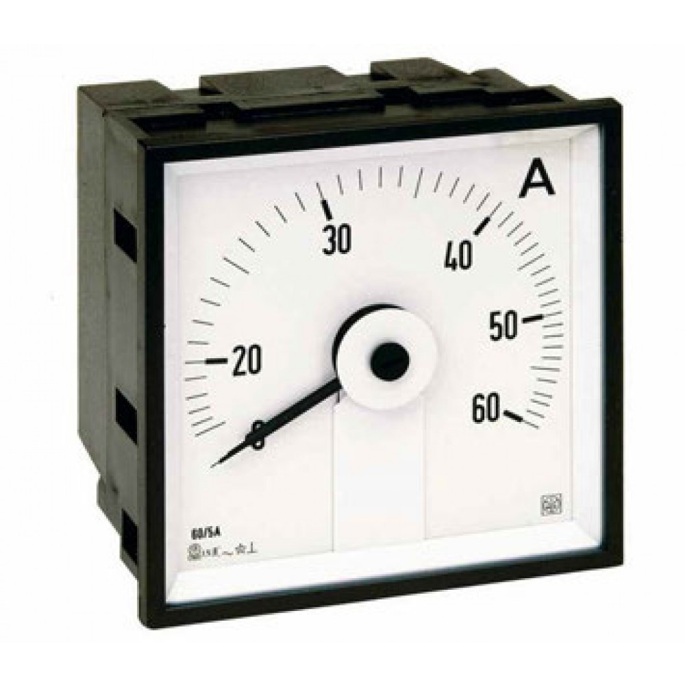 IME AQ72E Single Phase Analogue Ammeter for Alternating Current, 72x72mm, Scale length 240°