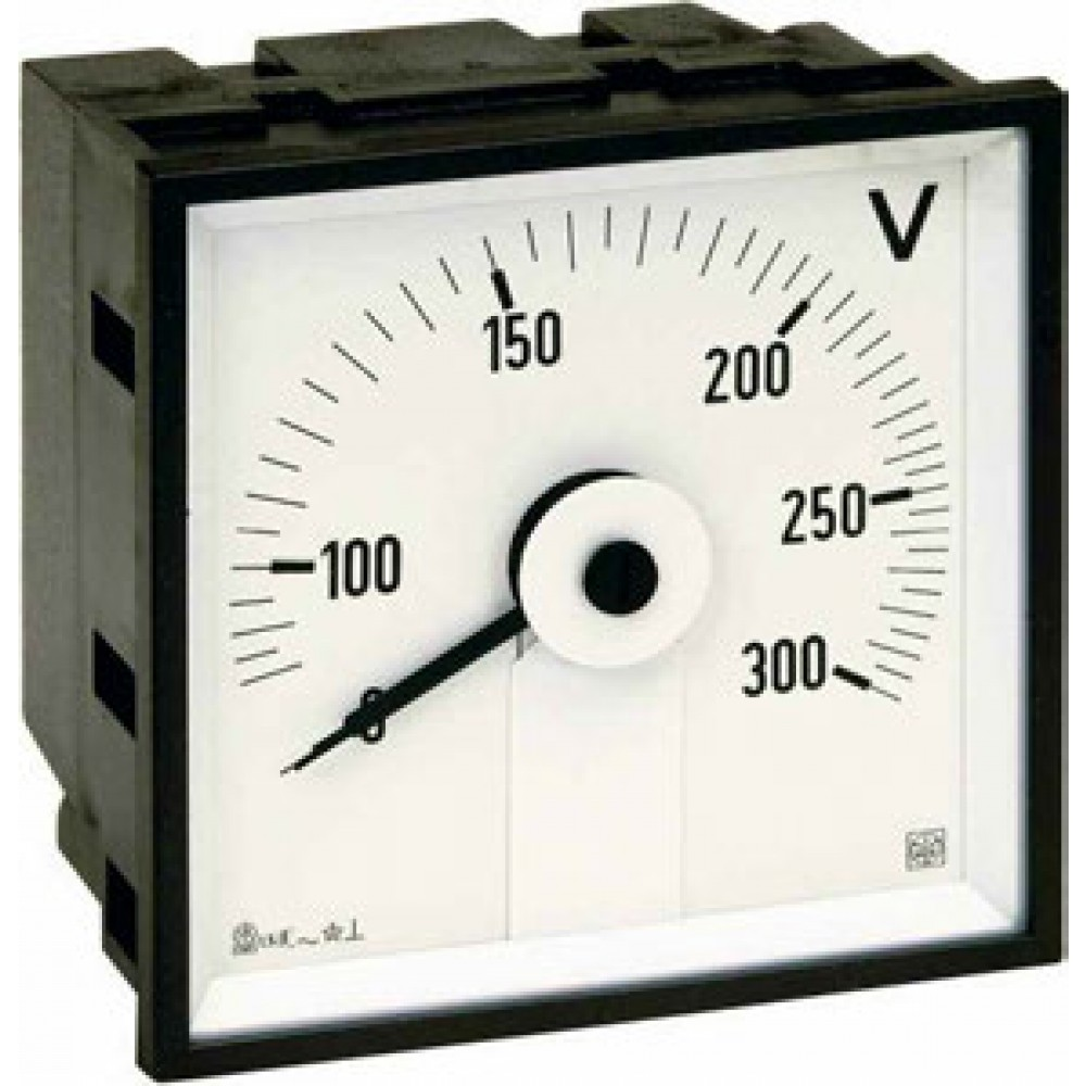 IME AQ72E Single Phase Analogue Voltmeter for Alternating Voltage, 72x72mm