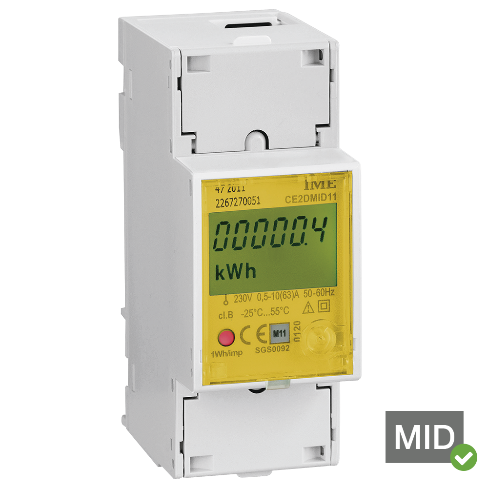 Single Phase Meter : Ime conto d mid certified single phase network