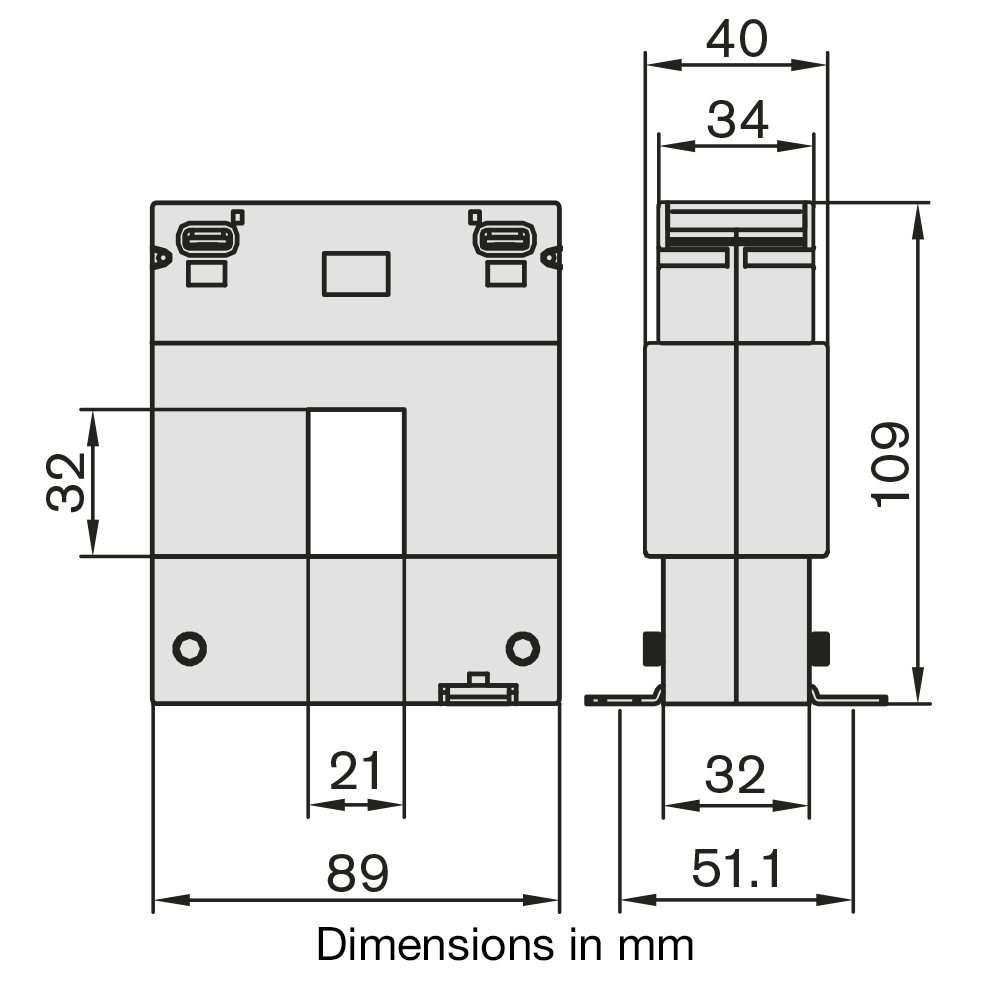 DBP23 Current Transformer Dimensions