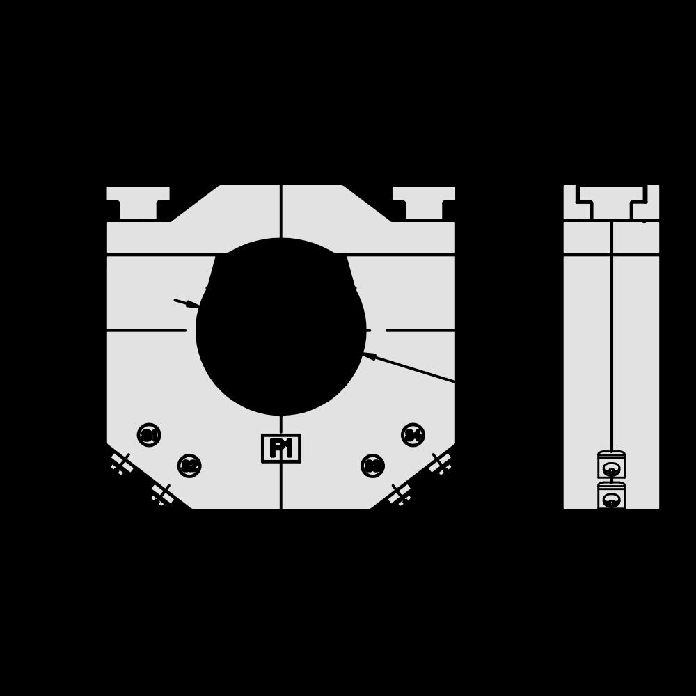 DBP58/3 5A Class 1 Multi-Tap Split Core Dimensions