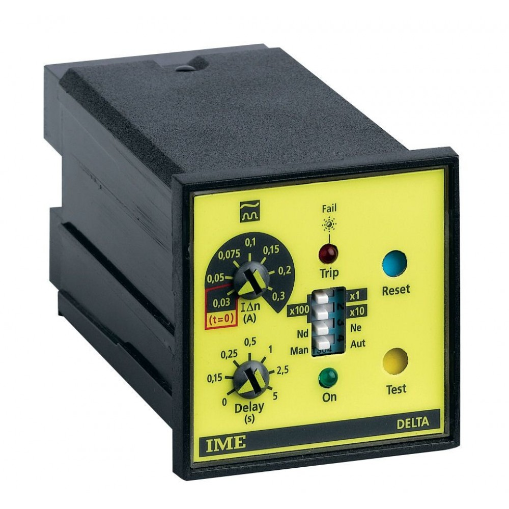 IME RD1DF Delta 48-S Earth Leakage Residual Current Device With 1 Alarm 48x48mm