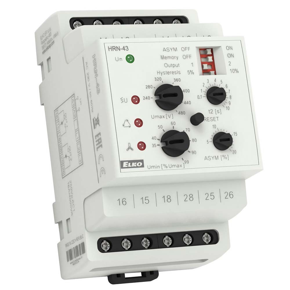 3 Phase Voltage Monitoring Relay HRN-43