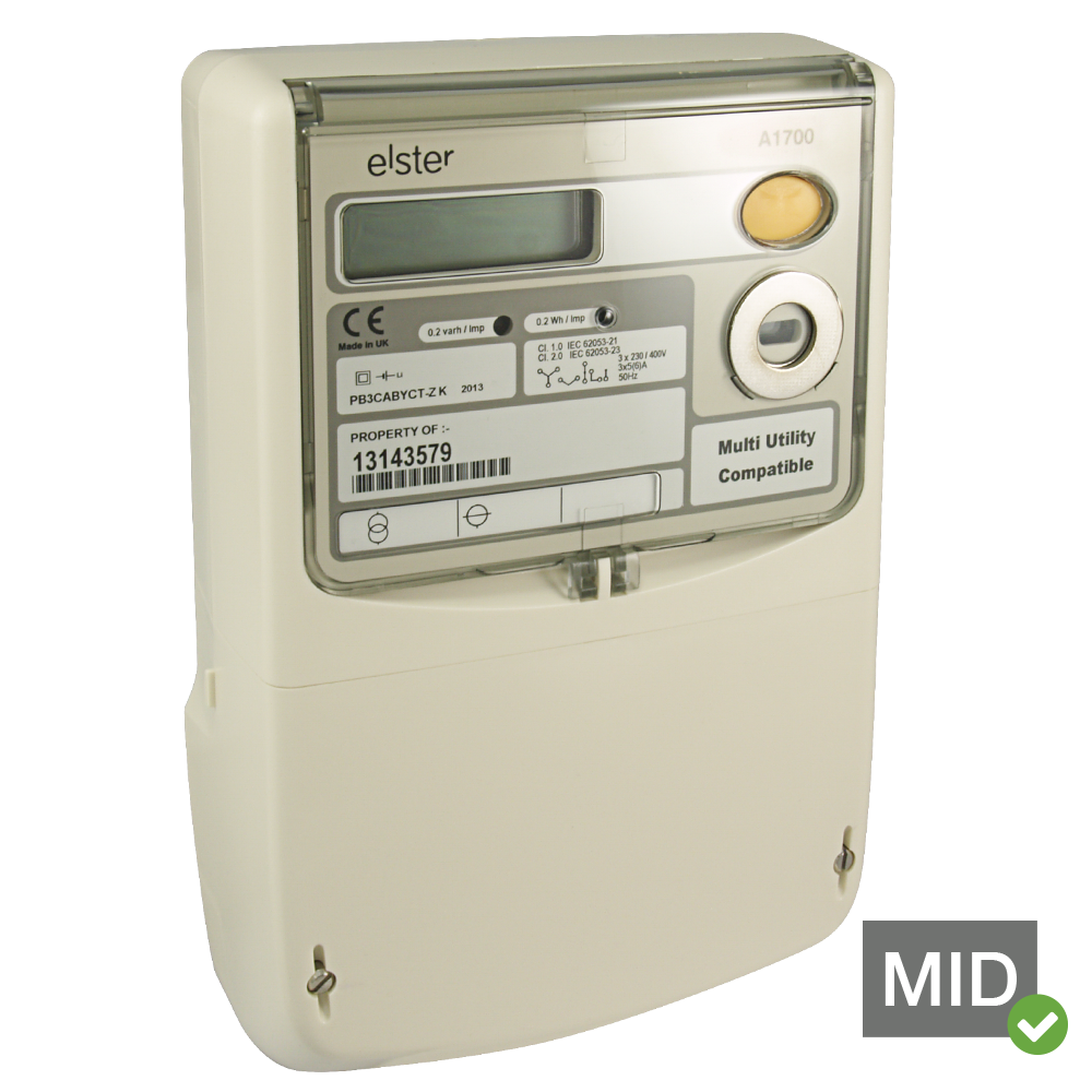 Elster A1700 MID Certified Class 1 Accuracy Three Phase Network Programmable PolyPhase Meter