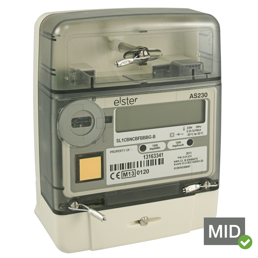Elster AS230 MID Certified Single Phase Class 1 Solar GSM AMI Generation Meter