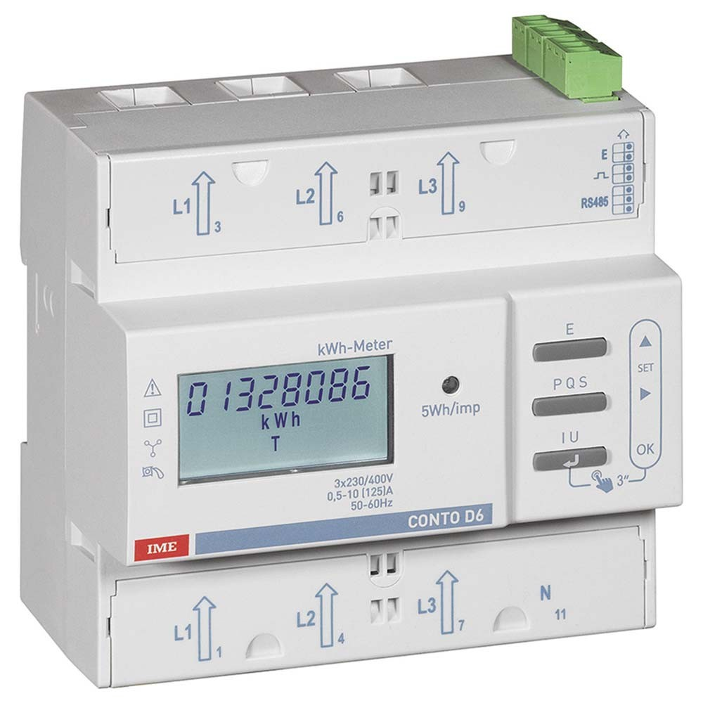 Conto D6 Three Phase Kilowatt Hour Energy Meter