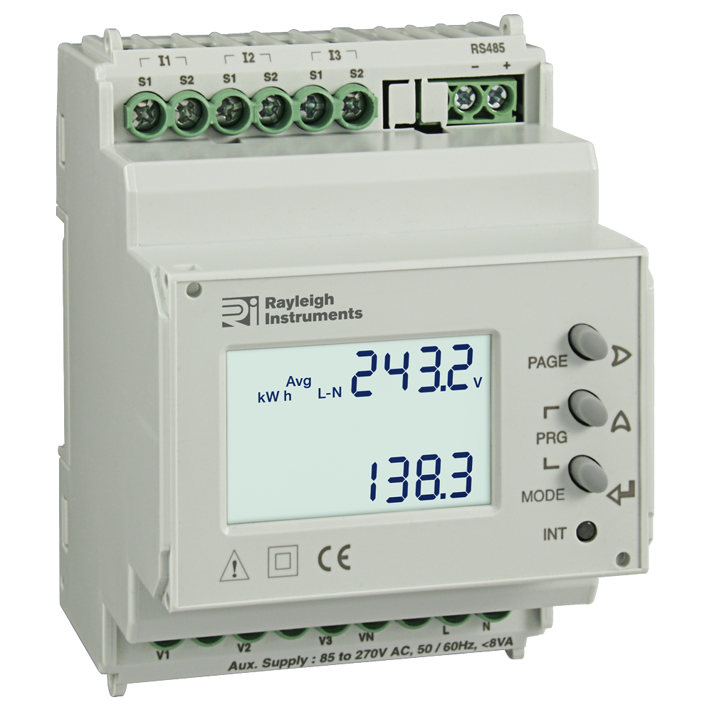 Rayleigh Instruments RI-384-C Din Rail Mounted Energy Meter