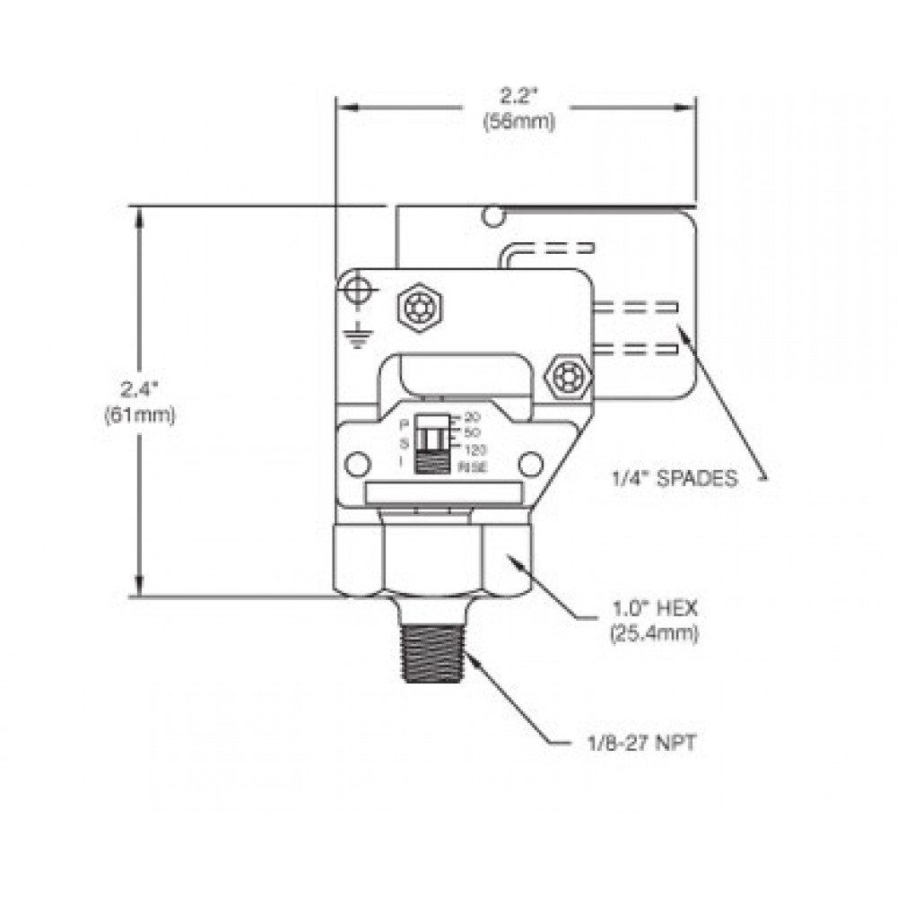 Nason High Pressure Switch XM Diagram