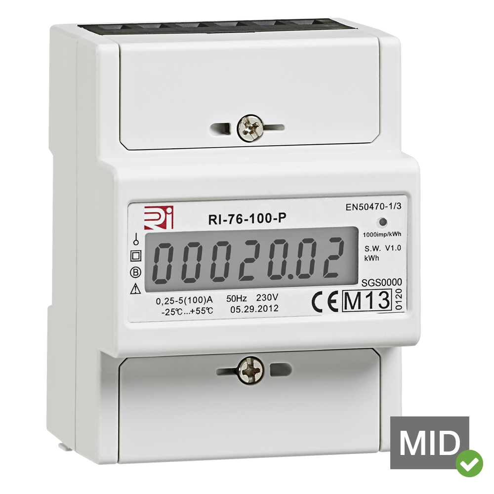 Rayleigh Instruments RI-76-100-P 100A Single Phase Network MID Certified Kilowatt Hour Active Energy Meters