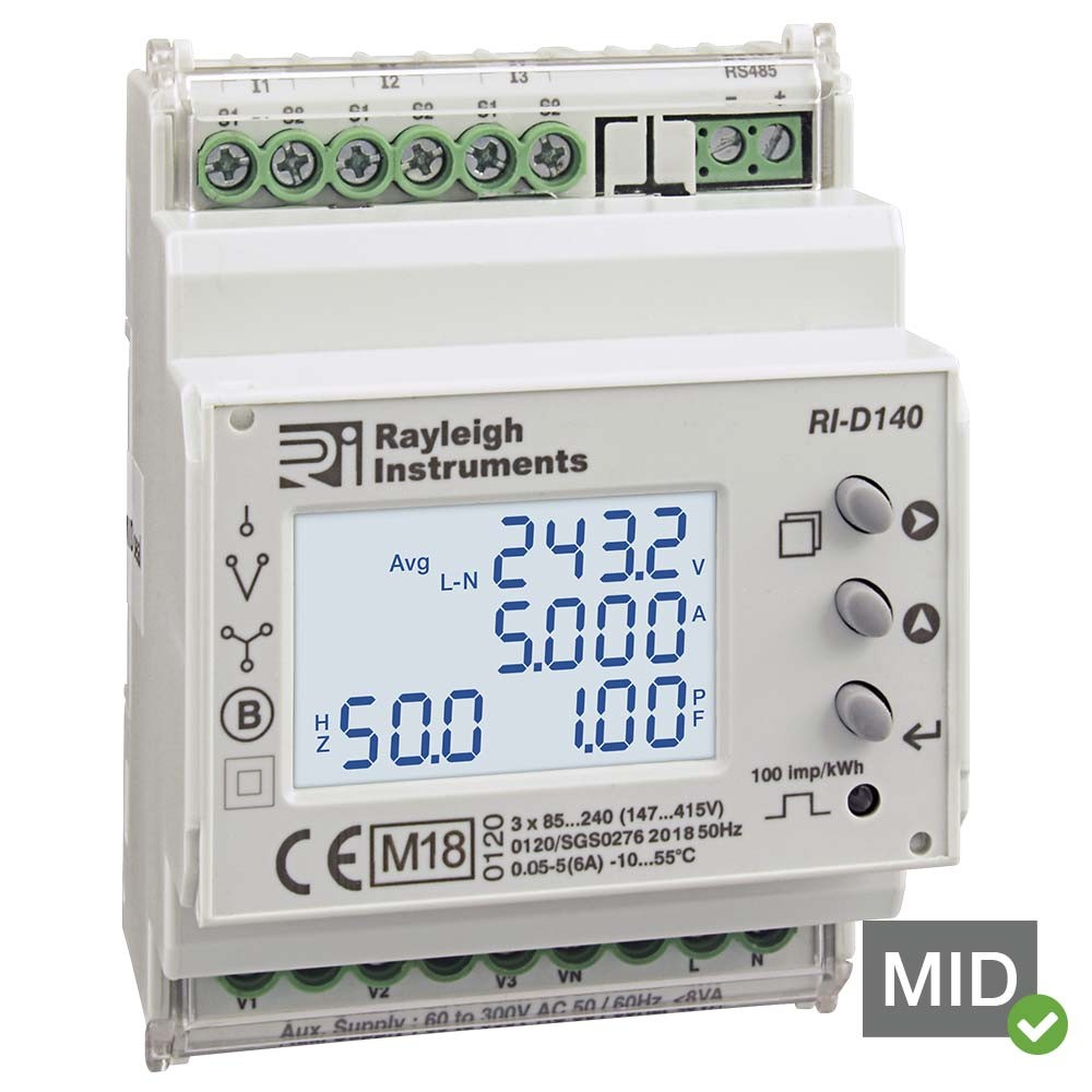 RI-D140 MID Certified Multifunction DIN Rail Meter