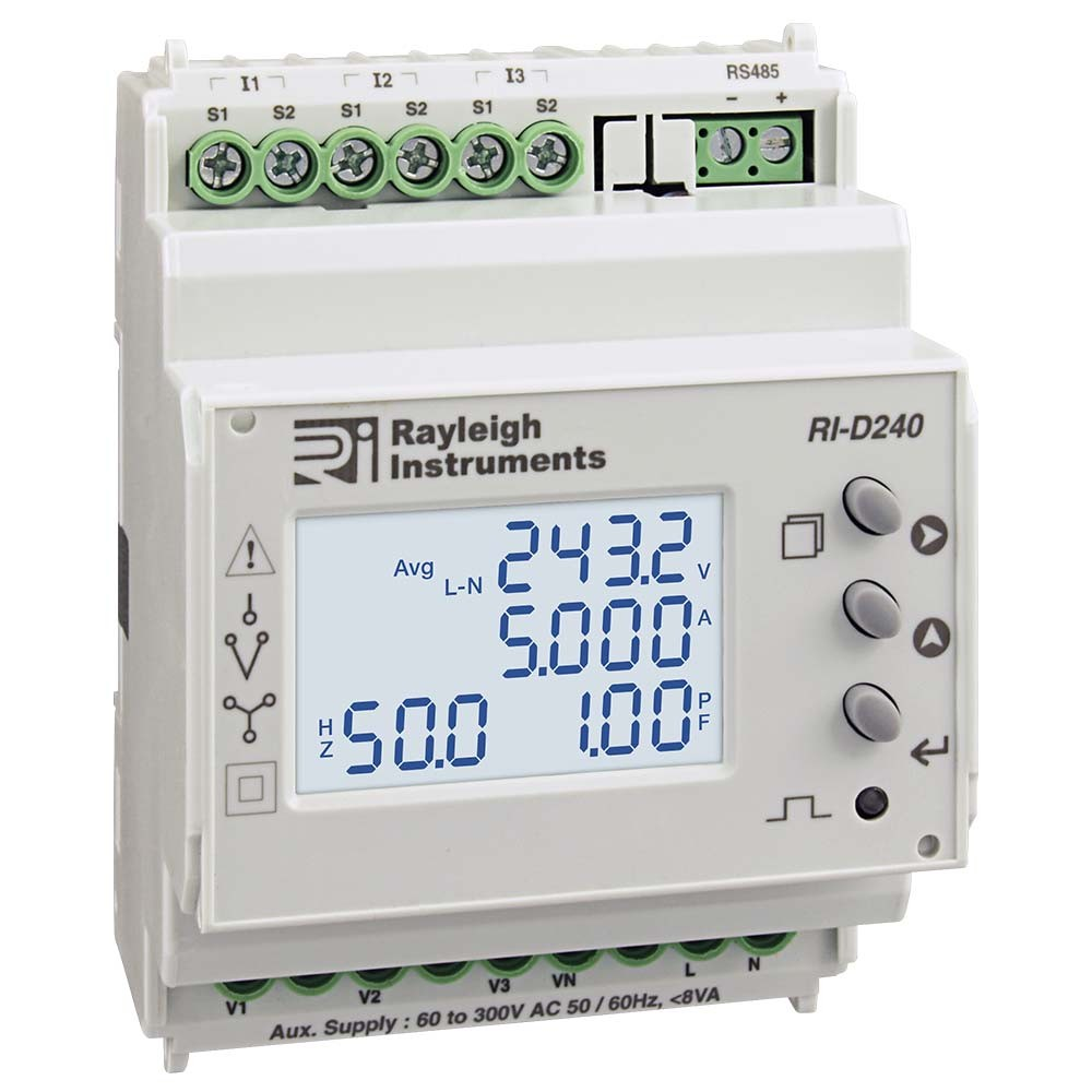 RI-D240 Multifunction DIN Rail Meter