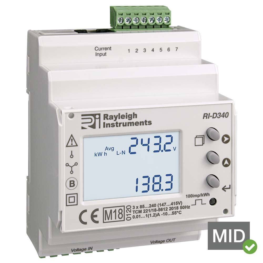 RI-D340 easywire MID Certified DIN Rail Multifunction Meter