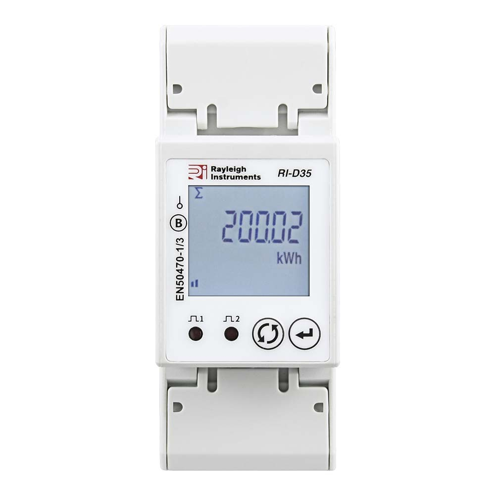 RI-D35-100 Single Phase MID Certified Multifunction Meter to Front