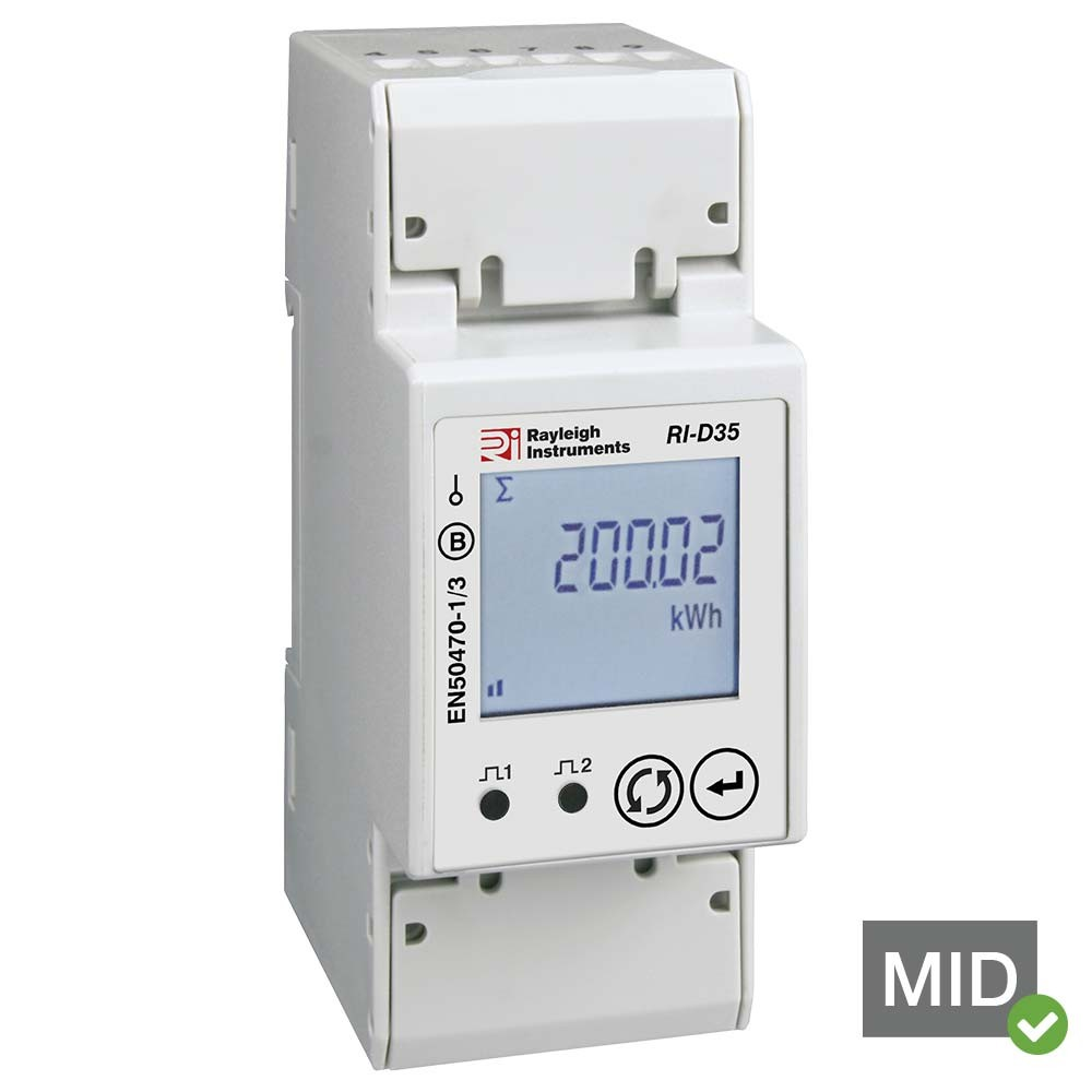 RI-D35-100 Single Phase MID Certified Multifunction Meter