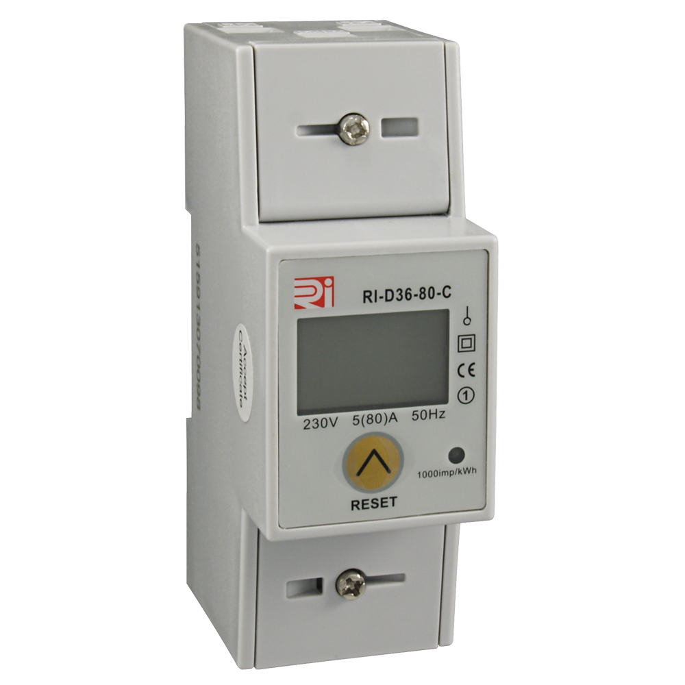 RI-D36-80-C Single Phase Energy Meters with Modbus