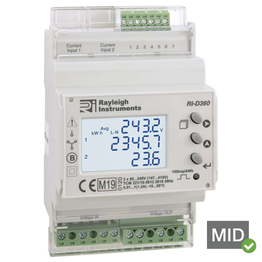 MID Certified Dual Load easywire DIN Rail Meter