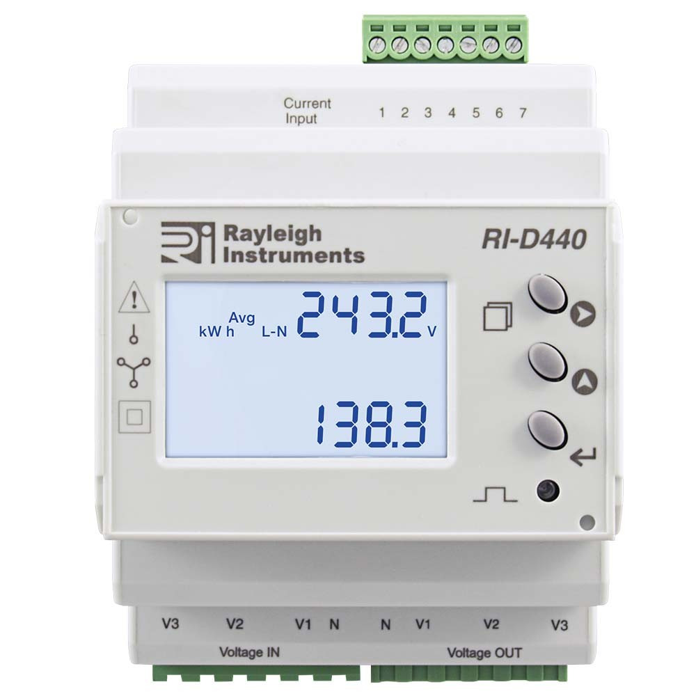 easywire DIN Rail Multifunction Meter RI-D440 to Front