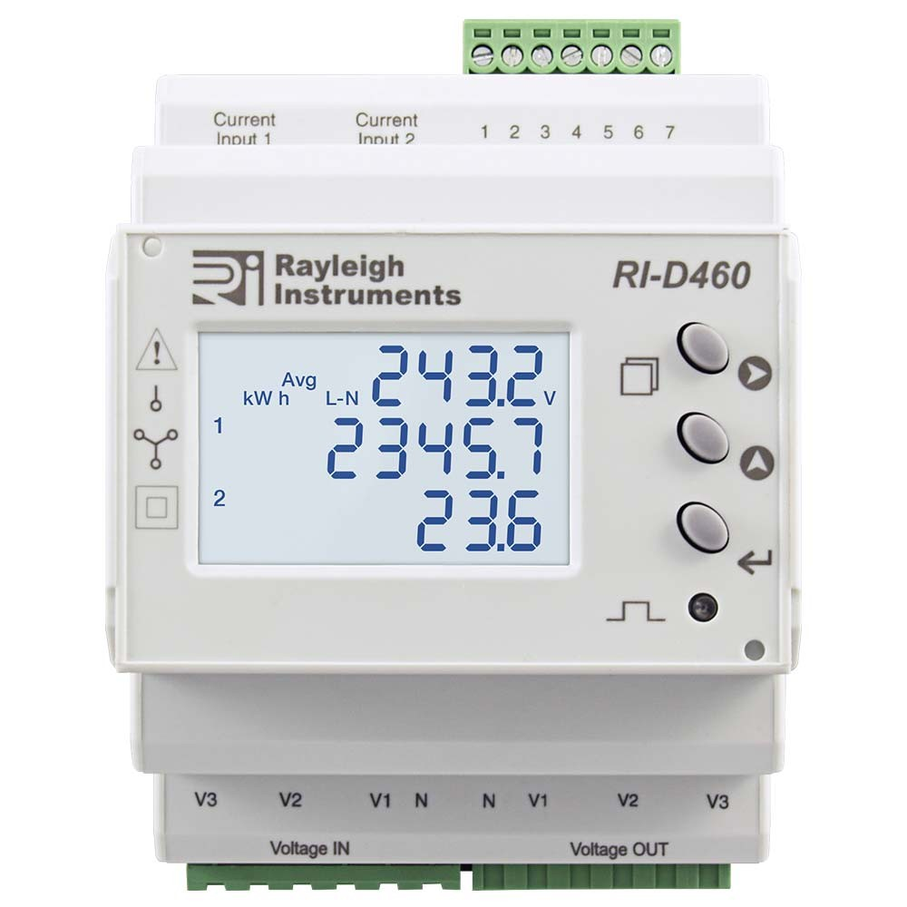 Split Load easywire DIN Rail Multifunction Meter RI-D460 to Front