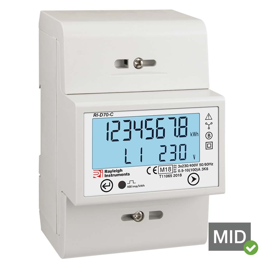 RI-D70 MID Certified Three Phase Kilowatt Hour Meter