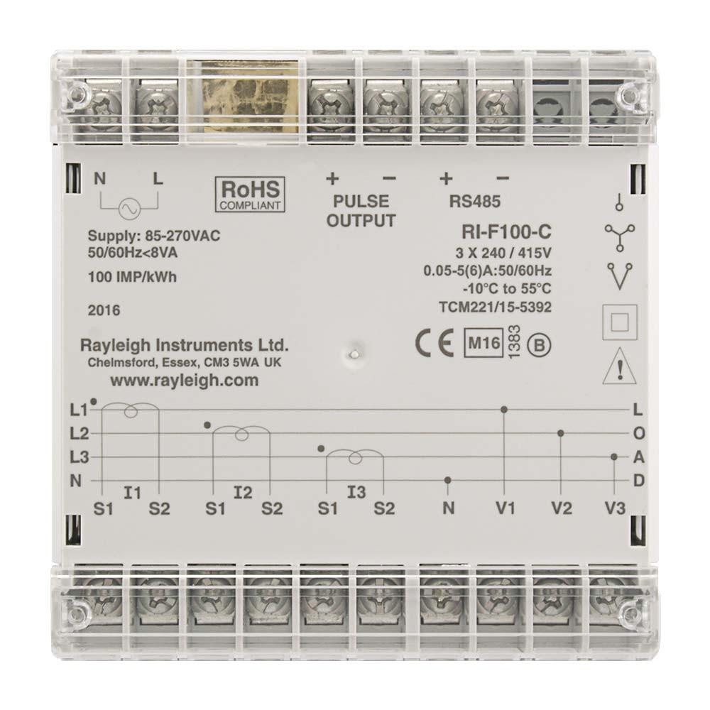 RI-F100 Rear Markings