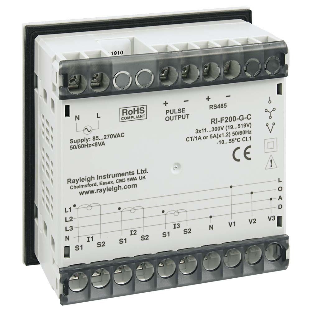 RI-F200 Multifunction Panel Meter Rear