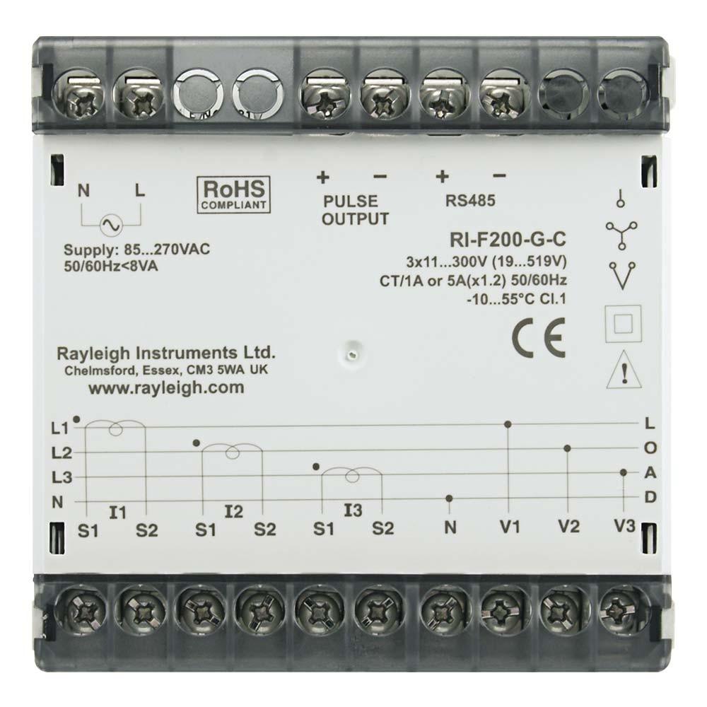 RI-F200 Multifunction Panel Meter to Rear
