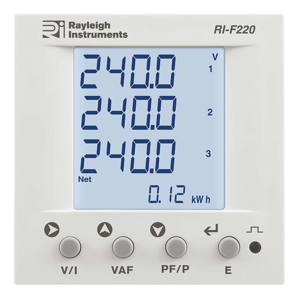 RI-F220 DIN72 Multifunction Meter to Front
