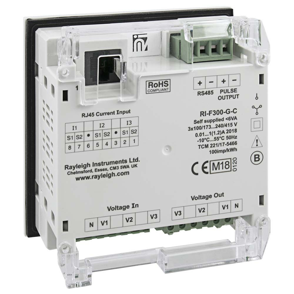 RI-F300 easywire MID Certified Multifunction Meter Rear